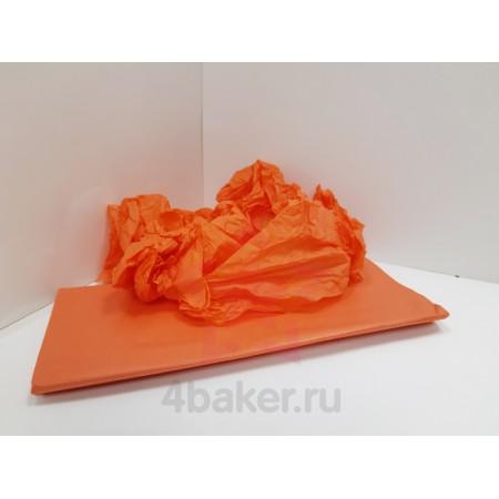 Бумага Тишью 50х66см, Оранжевая, 10 листов nz