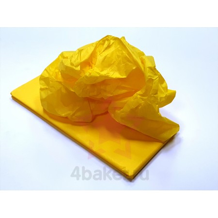 Бумага Тишью 50х66см, Желтая, 10 листов nz