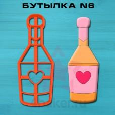 Вырубка-штамп Бутылка N6