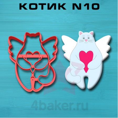 Вырубка-штамп Котик N10