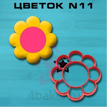 Вырубка-штамп Цветок N11