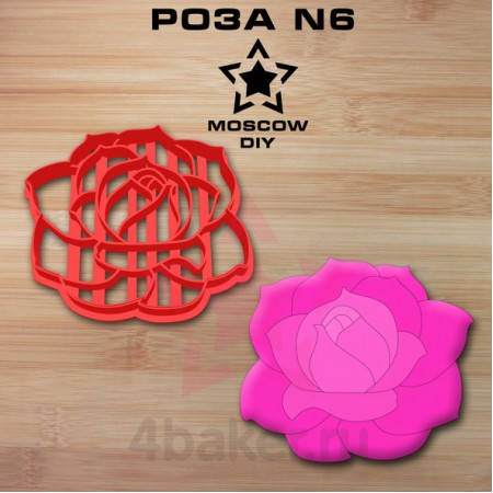 Вырубка-штамп Роза N6