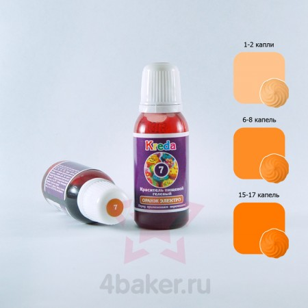 Краситель гелевый Kreda S Оранж Электро N7 25г nz