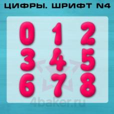 Набор вырубок Цифры. Шрифт N4