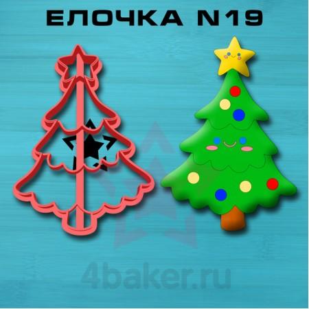 Вырубка-штамп Елочка N19