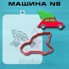 Вырубка и трафарет Машина N6