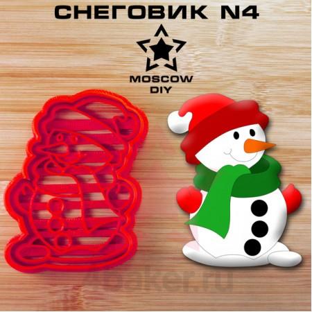 Вырубка и штамп Снеговик N4
