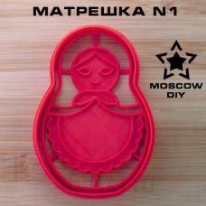 Вырубка и штамп Матрешка N1